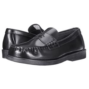 Sperry Top-Sider Colton black leather boys shoe 7